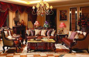 soggiorno classico di lusso