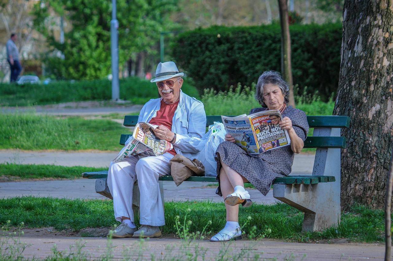 Un ritrovo per gli anziani a Roma